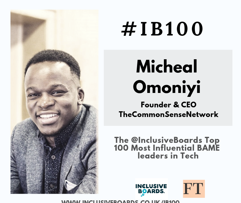 The Common Sense Network CEO Recognised as Top 100 BAME Leader in Tech