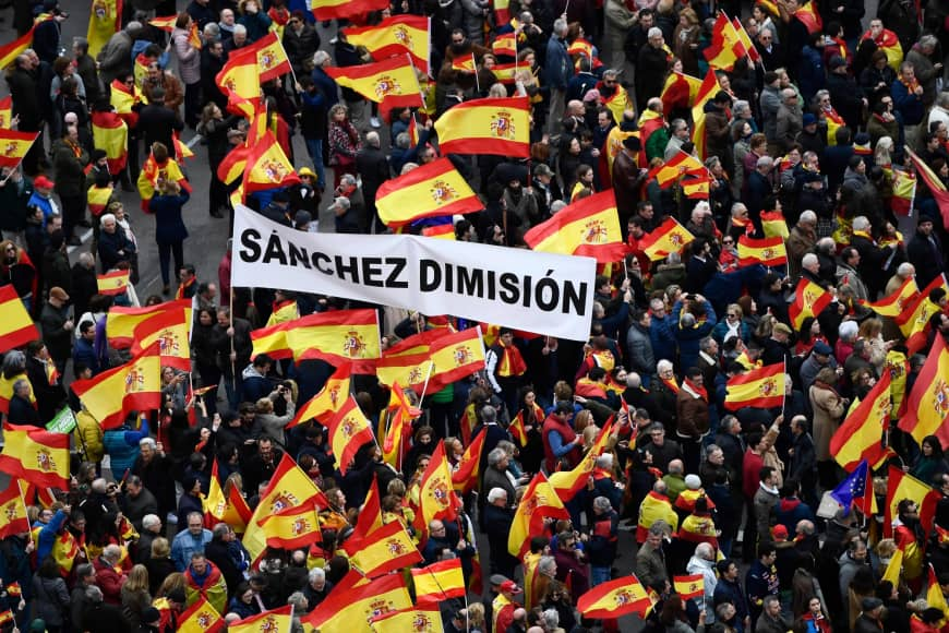 Mass Protests In Madrid As PM Attempts To Hold Talks With Catalan Separatists