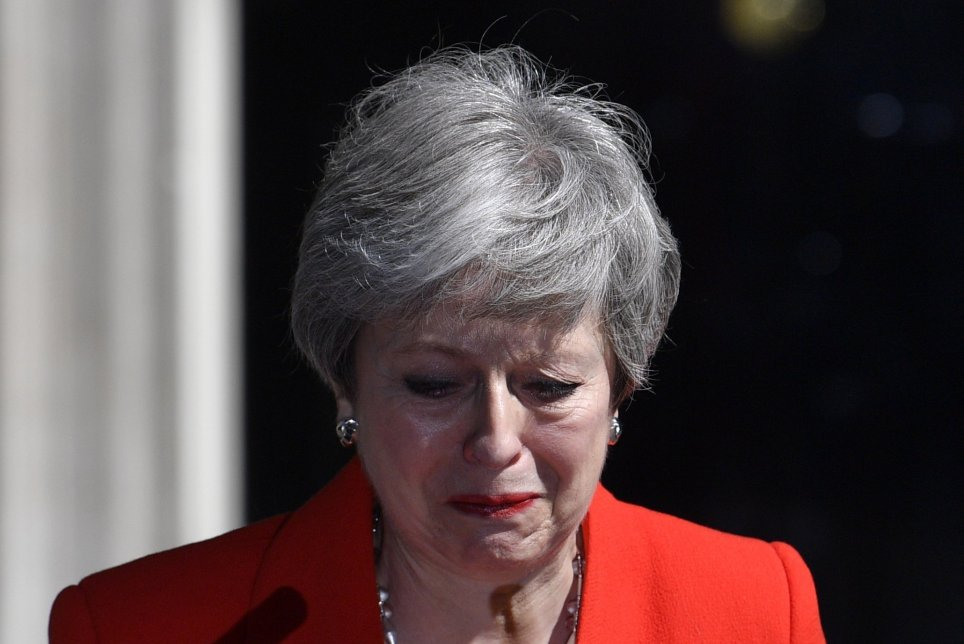 Theresa May Cries Tears as She Announces Her Resignation as Prime Minister