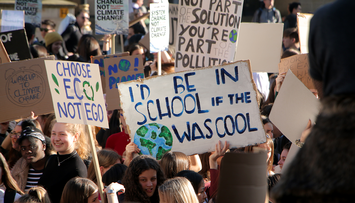 They'd Be In School If The World Was Cool: Students Protesting Climate Change