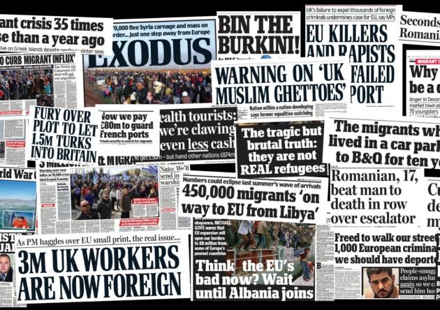 Immigration: media bias and moral panic