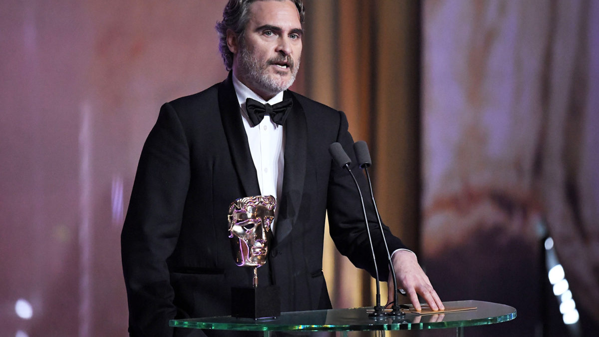 BAFTAs 2020: Joaquin Phoenix and Glass Houses